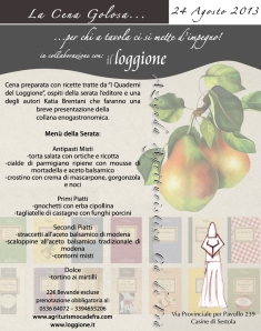 Cena golosa Loggione Cà de Frà